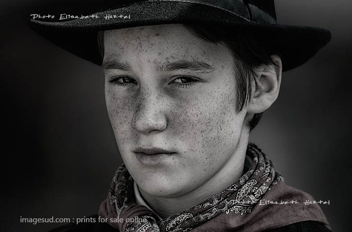 Portrait of a youngster, French countryside