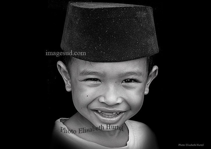 Portrait, Malaysia, black and white