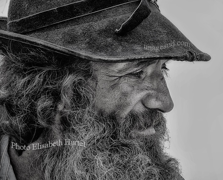 The Gypsy, portrait black and white