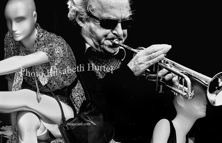 Jazz in Paris, black and white art photography