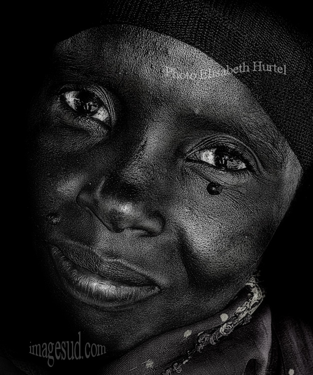African Woman portrait, bw