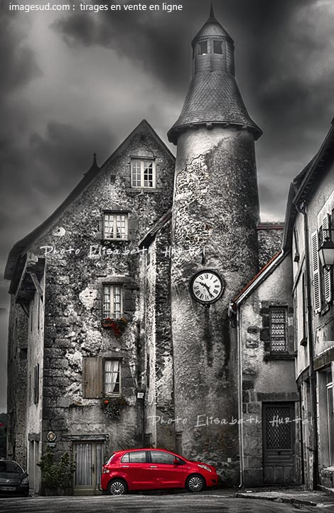 France village in winter, art photograph