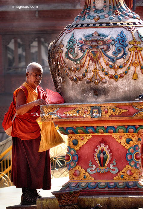 Buddhist monk, Nepal