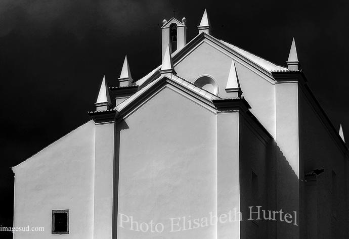 Iglesia, Portugal, blanco y negro