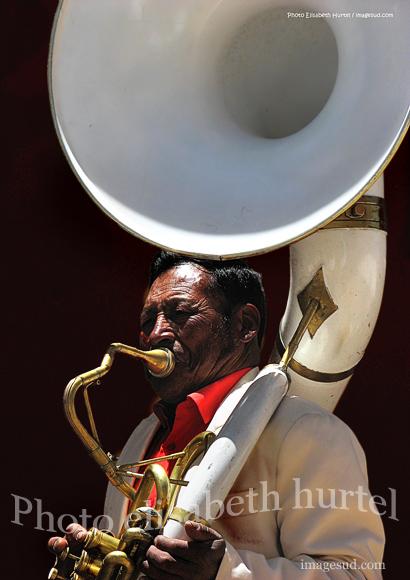 Portrait de musicien, Bolivie, tirage d'art