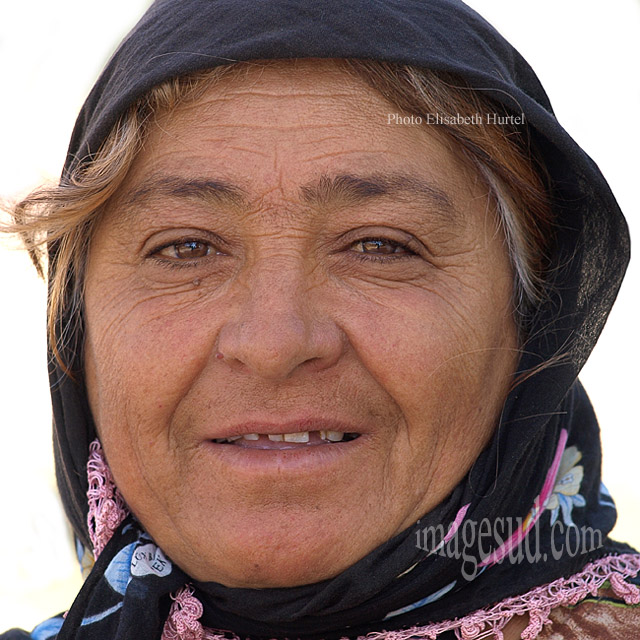 Visage de paysanne de Turquie, tirage d'art