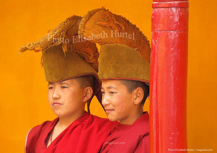 Enfants moines, bouddhisme, poster d'art