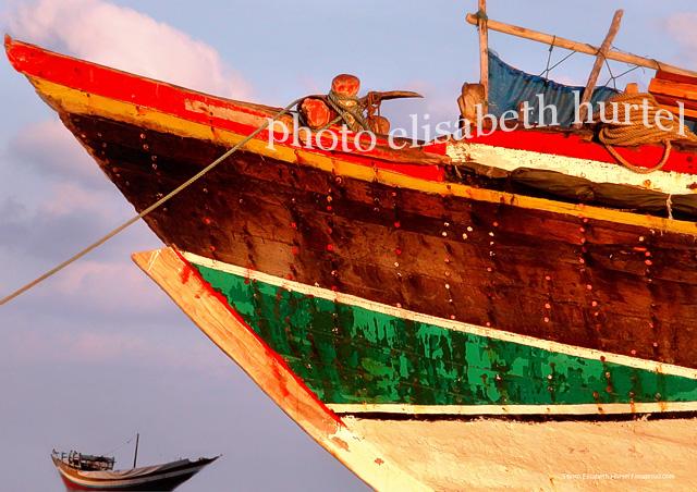 Panneau mural : mer et bateaux