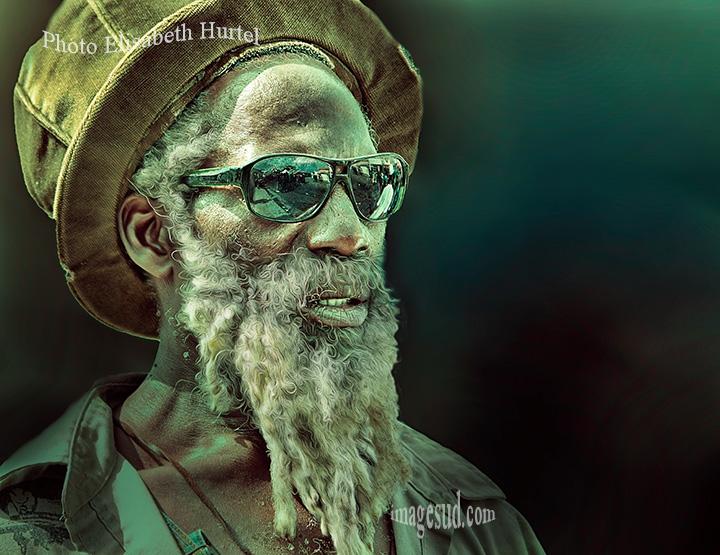 Portrait d'un rasta des Antilles