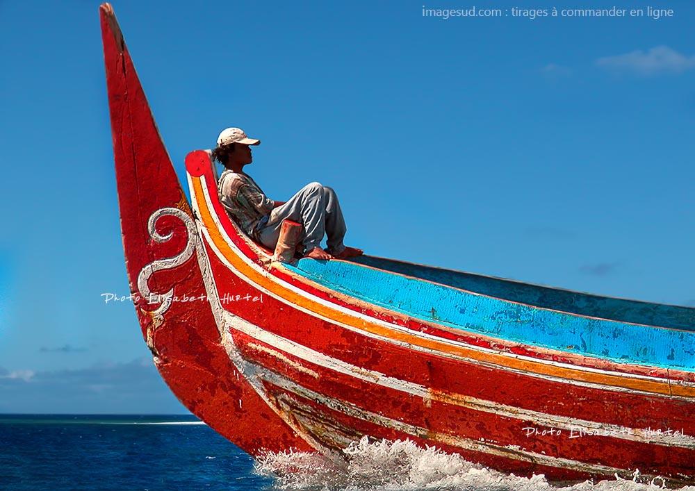 poster tableau mural pour déco : bateau de Bali