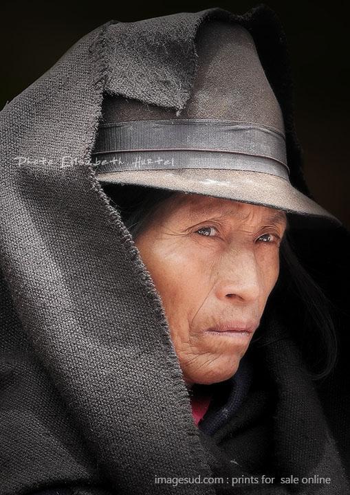 Portrait de femme des Andes