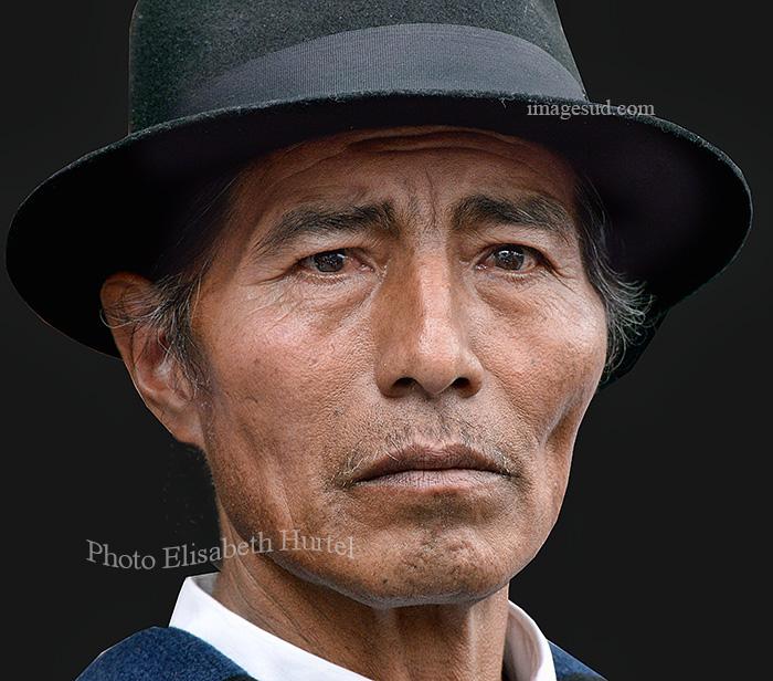Portrait d'un Indien Quechua, Andes