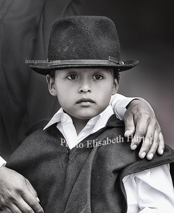 petit garçon des andes : Andean kichwa kid