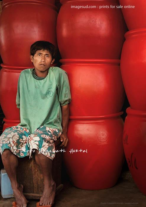 Scène de marché à Bali