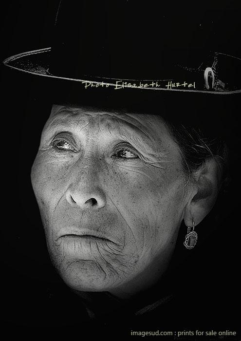 Portrait de femme Aymara des Andes