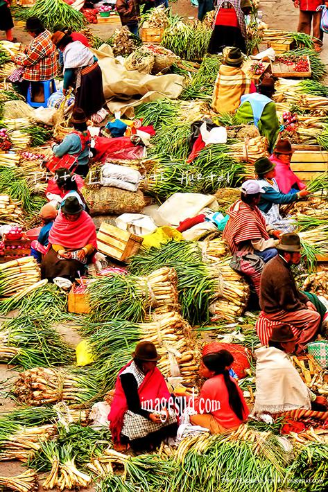 marché indigène des Andes