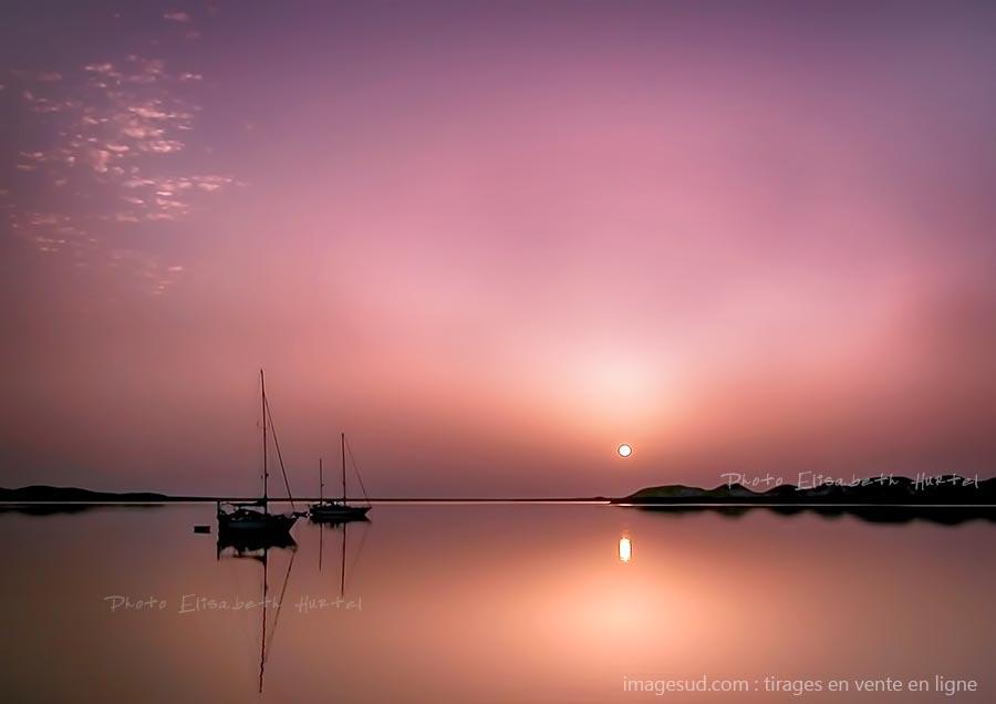 Calme sur la Mer Rouge, paysage marin très coloré, tirage pour déco murale en vente en ligne