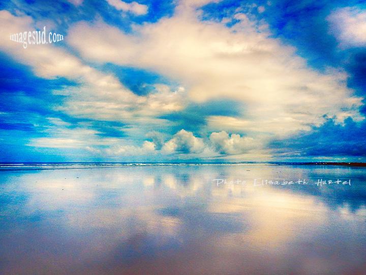 Paysage marin, marée basse et reflets