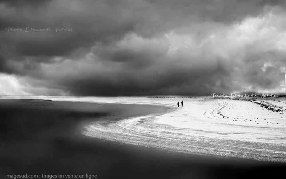 Tirage d'art en noir et blanc d'un paysage marin, déco murale, en vente en ligne