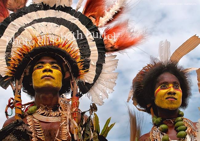 Danse rituelle en Papouasie-Nouvelle-Guinée, tirage d'art