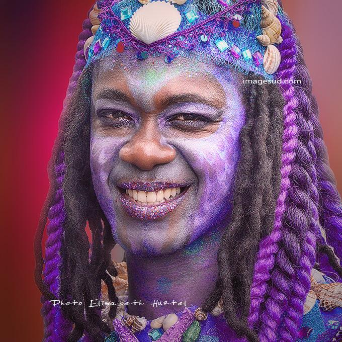 Portrait de carnaval aux Antilles