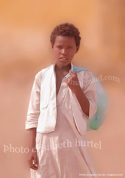 Portrait d'enfant du désert, tirage d'art original, tableau-photo