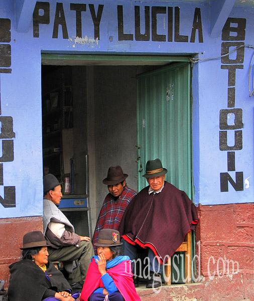 Chez l'épicier de village, Andes, Equateur, Amérique latine