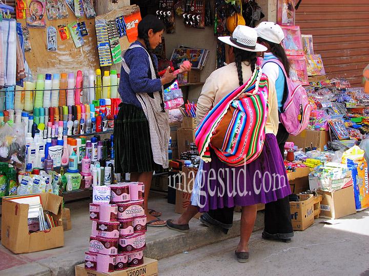 Petite boutique en Bolivie