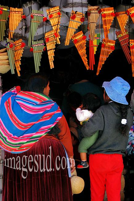 Bolivie : Flutes de pan, ou zampona, siku, musique traditionnelle