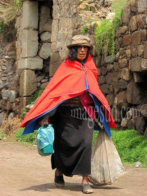 En route pour le marché, Equateur