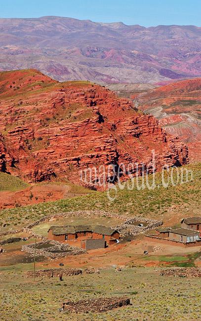 Paysage des Andes, région de Potosi en Bolivie