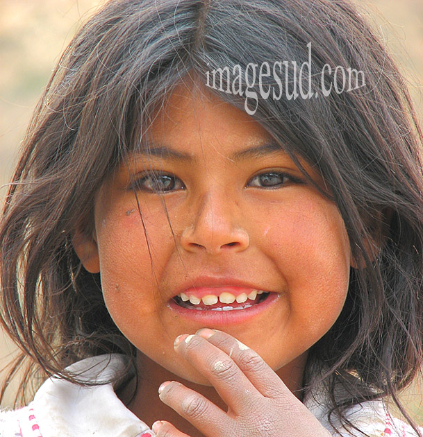 Enfant de Bolivie, portrait