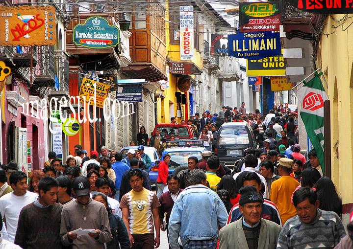 Une rue de Potosi, Bolivie