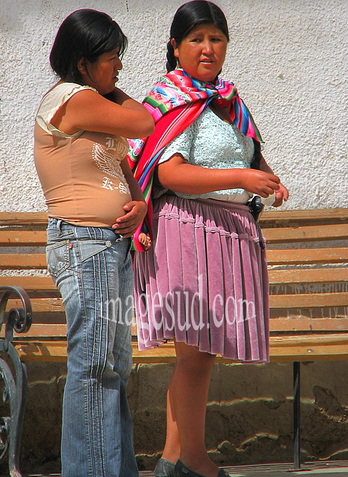 Bolivie: jupe et jean