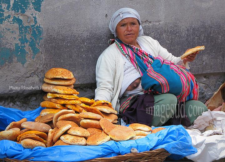 Marchande de pains, Bolivie