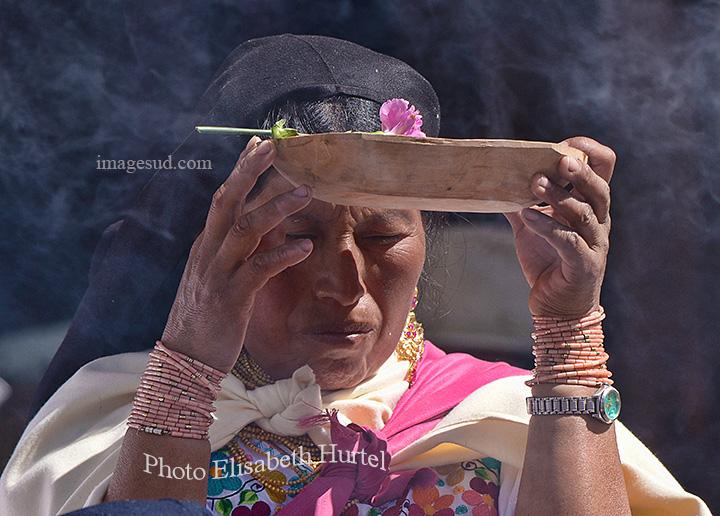 Homage à la Pachamama, Equateur. Tribute to Pachamama, Ecuador.