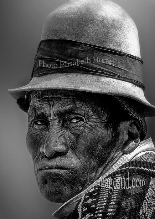 Portrait d'un indien de Andes, Bolivie