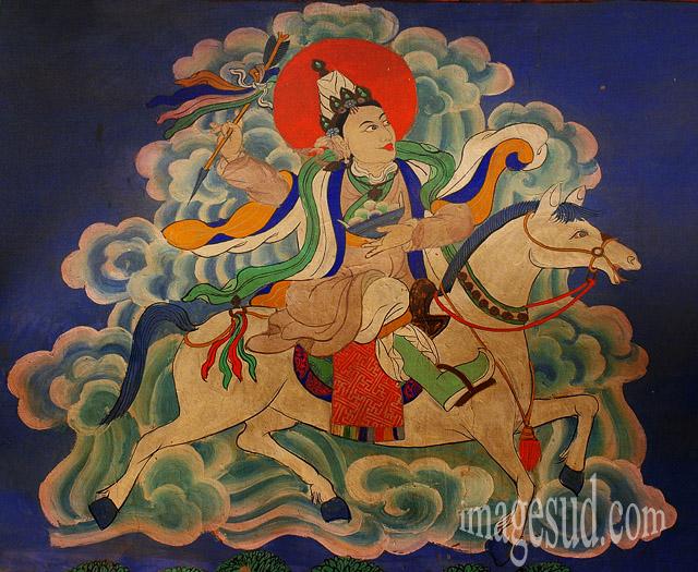 peinture murake, gompa Thiksey, Ladakh