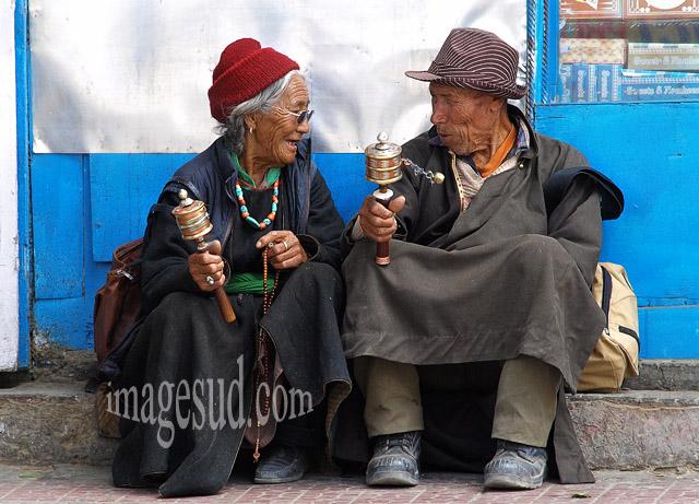 Scène de rue, Ladakh, Inde