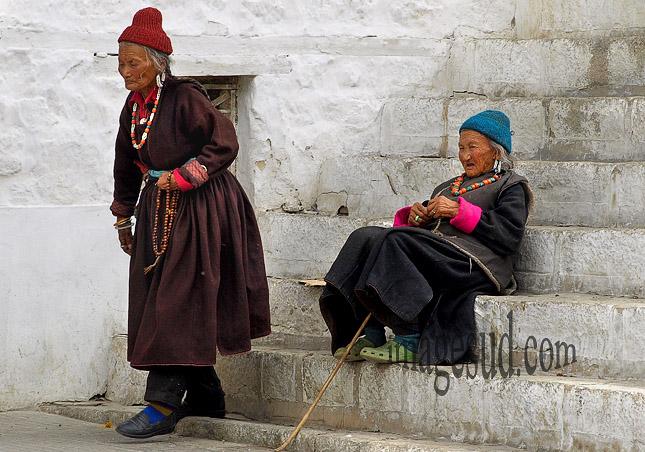 Scène de rue au Ladakh, Leh