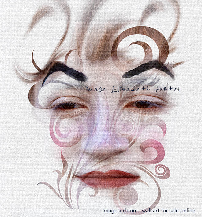 Digital image, visual art, woman face