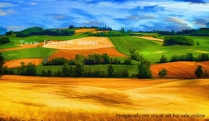 Digital image, visual art : french countryside